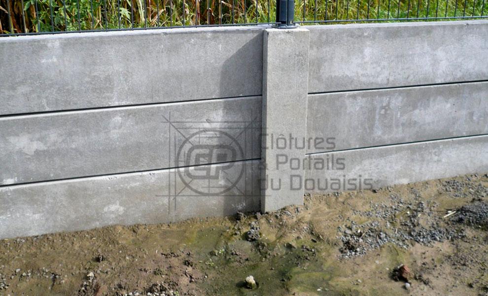 Mur de sout nement cloture du douaisis - Faire un mur de soutenement ...