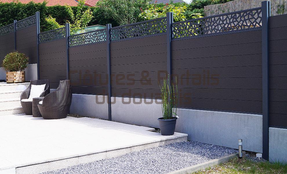 100% authentique e9e71 63aa3 Clôture lame composite - cloture du douaisis